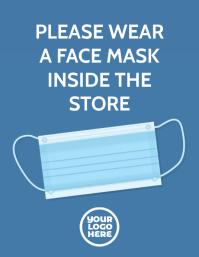 Please wear a mask inside store sign flyer
