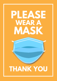Please wear a mask Poster Customer Informatio A4 template