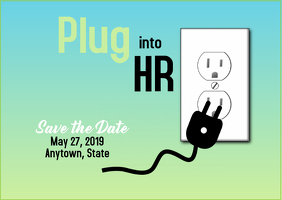 Plug into HR Save the Date