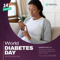 Plum Diabetes Day Instagram Image template
