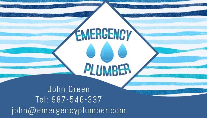 Plumber business card templaye template postermywall plumber business card templaye colourmoves
