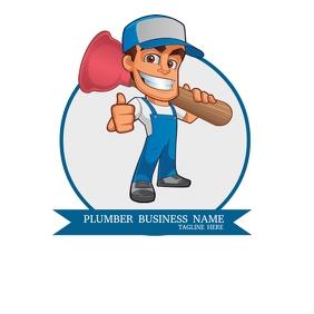 Plumber Business Service Logo