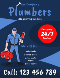 plumbers flyer template