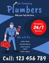plumbers flyer template 传单(美国信函)