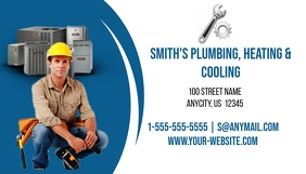 Plumbing, Heating and Cooling Business Card