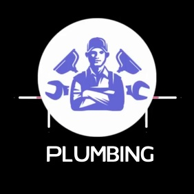 PLUMBING LOGO SOCIAL MEDIA Logotipo template