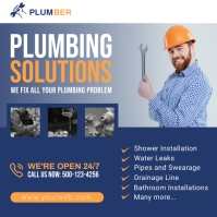 Plumbing Promotion Social Media Post Vierkant (1:1) template