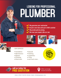Plumbing Service Flyer Poster Template