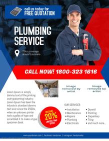 Plumbing Service Flyer Template