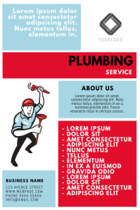 customizable design templates for plumbing postermywall