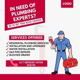 Plumbing Service Instagram Post template