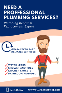 Plumbing Service poster template
