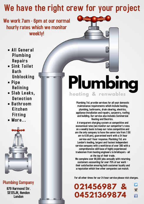 Plumbing Services Flyer