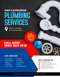 Plumbing Services Handyman Flyer Poster