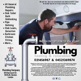 customizable design templates for plumbing postermywall