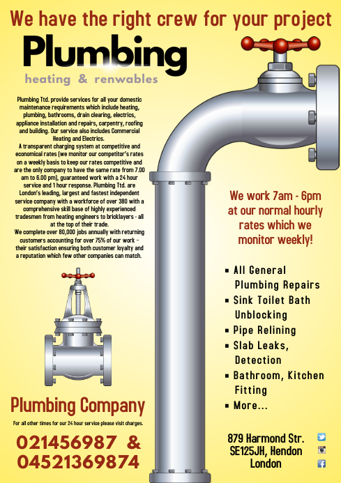 Plumbing Services Poster