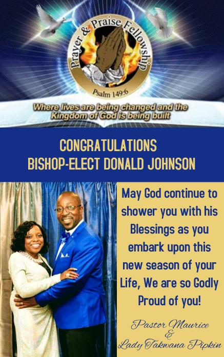 PNP AD FOR BISHOP JOHNSON Portada de Kindle template