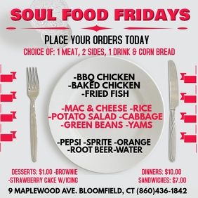 PNP SOUL FOOD FRIDAYS 2020