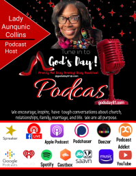 Podcast Flyer (US Letter) template