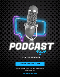 Podcast Flyer Template