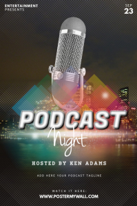 Podcast Flyer Template Poster