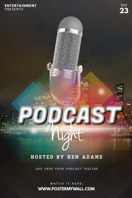 Podcast Flyer Template Plakat