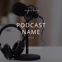 Podcast Poster Template Minimal