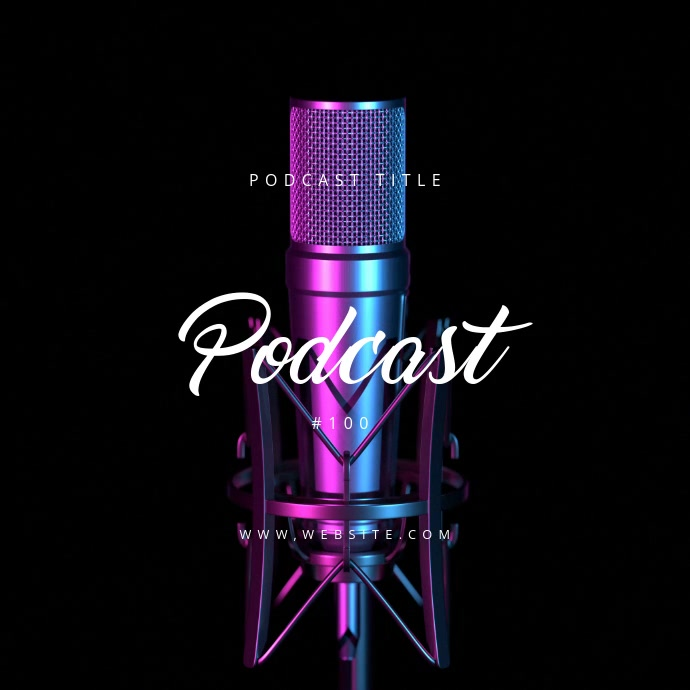 Podcast Poster Template Moving Cuadrado (1:1)