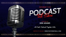 Podcast Talk show promo template Facebook Cover Video (16:9)