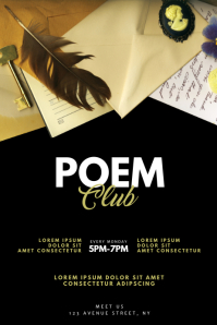 poem club flyer design template
