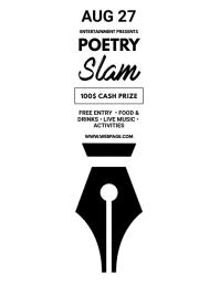 Poetry Slam Flyer Design Template