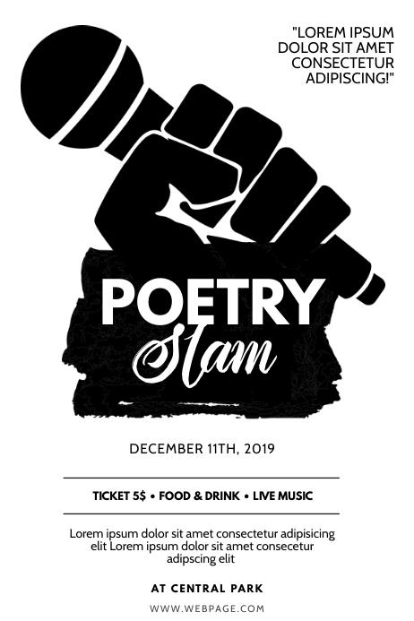 Poetry Slam Flyer Design Template Poster