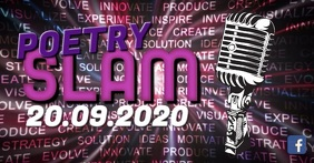 Poetry Slam Header video Banner Advert Micro