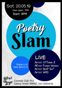 Poetry Slam Poster Flyer Event
