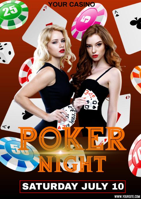 poker A4 template