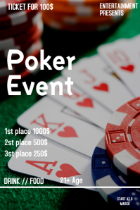 Poker event flyer template