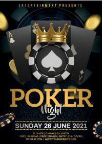 poker night A4 template