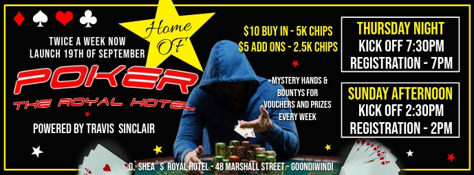Poker Night Couverture Facebook template