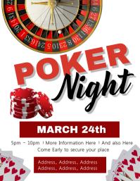 Poker Night Event Flyer Template