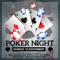 poker night instagram template