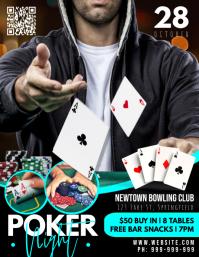 Poker Night Poster Flyer (US-Letter) template