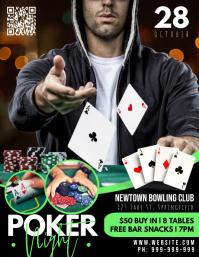 Poker Night Poster Рекламная листовка (US Letter) template