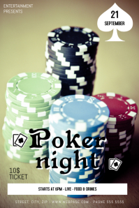 Poker Night Flyer Template