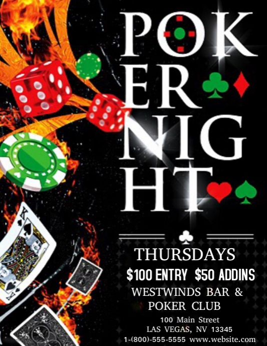 Free Poker Night Poster Template  Testo Canzone Roulette System Of