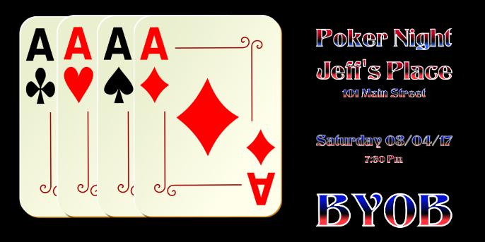 Poker Night Twitter Post template