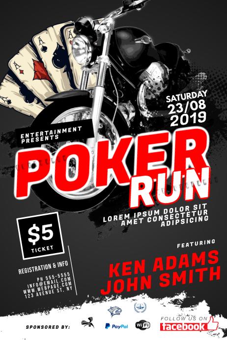 Poker Run Flyer Template