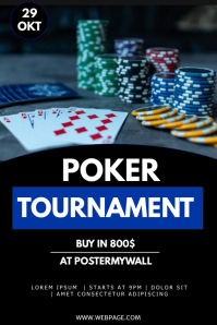 poker tournament flyer template Poster