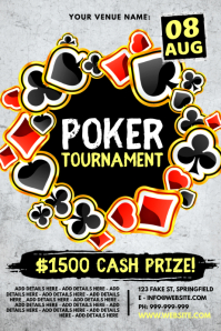 Poker Tournament Poster template