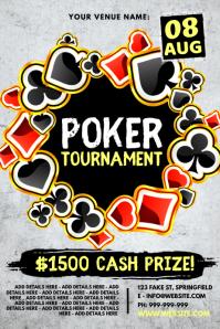 Poker Tournament Poster template