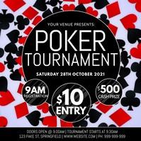Poker Tournament Video Poster Instagram Plasing template